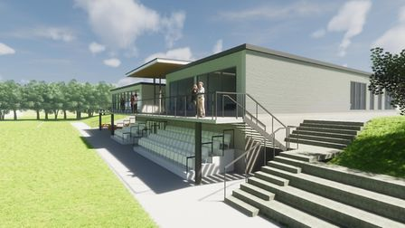 Suffolk FA's new Headquarters will include office space changing rooms as well as an artificial pitc