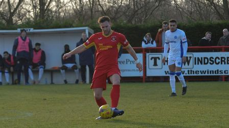 Russell Short, who will return after suspension for Needham Market. Picture: BEN POOLEY