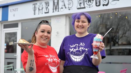Amber Jones and Hannah Hawkes outside their new cafe Picture: SARAH LUCY BROWN
