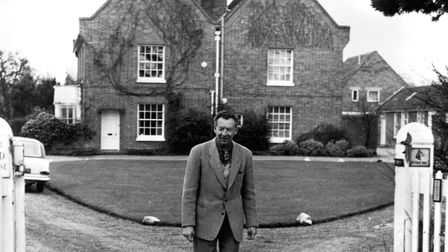 Benjamin Britten on the drive way at The Red House Picture: ARCHANT ARCHIVE