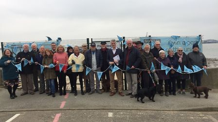 Representatives from Shotley Heritage Charitable Community Benefit Society Ltd alongside South Suffo