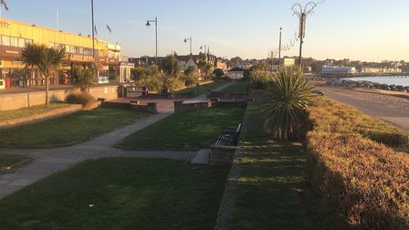 Part of the southern part of Felixstowe seafront that would benefit from the �1.78million revamp Pic