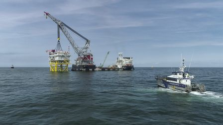 The substation for the East Anglia ONE offshore has been successfully installed Picture: EAST ANGLIA