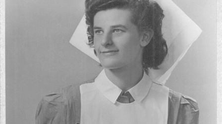 Its 1949 and Margaret Thick has qualified as a state registered nurse Picture: FAMILY COLLECTION
