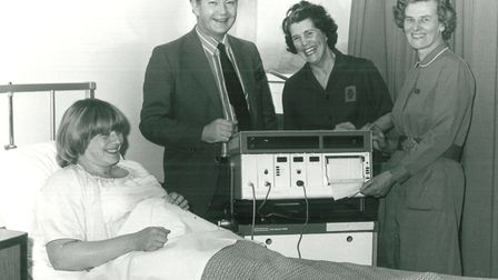 An EADT picture from 1979, taken at the Ipswich maternity unit in Heath Road. Margaret Thick, right,