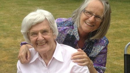 Margaret Thick and Christine Clements – both church secretaries, at different times Picture: Chris