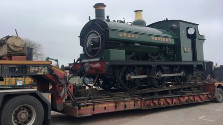 The GWR tank engine has arrived at the East Anglian Rail Museum from its base at the Severn Valley R