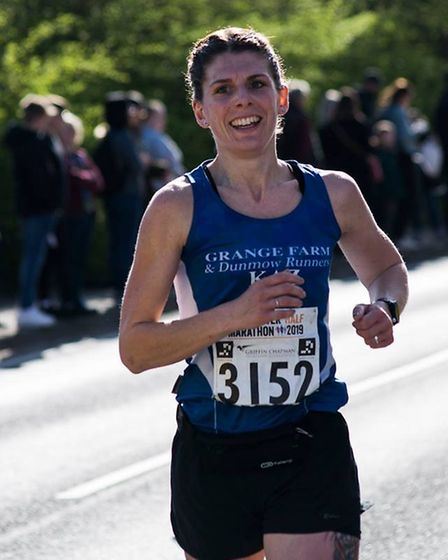 Runners took to the streets of Colchester for the 13 mile half marathon. Picture: BEN SUTTON