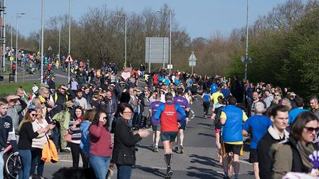 Crowds gathered at Colchester United FCs The JobServe Community Stadium. Picture: BEN SUTTON