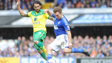 Jay Tabb in action for Town against Norwich