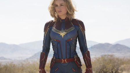 Brie Larson as Captain Marvel, the MCU's first female uperhero to be given her own film franchise Ph