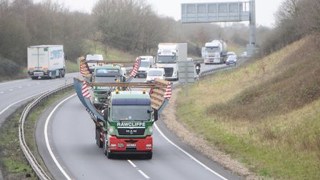 A previous abnormal load travelling through Suffolk Picture: LUCY TAYLOR
