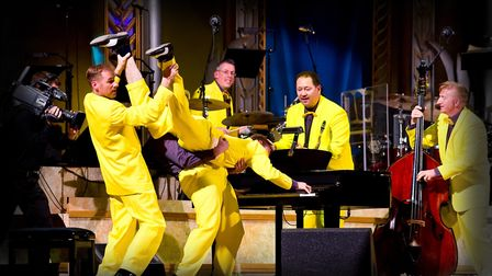 The Jive Aces who are bringing their colourful show to the New Wolsey Theatre Photo: Jive Aces