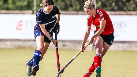 Co-captain Emma Millar, left, played her last home game for Ipswich in their 4-0 defeat to Wimbledon