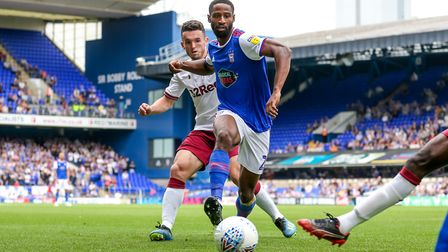 Donacien made 10 Championship appearances for Ipswich. Picture: STEVE WALLER WWW.STEPHENWALLE