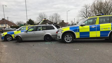 Officers from Suffolk Constabulary assisted colleagues from Essex Police in stopping the vehicle in