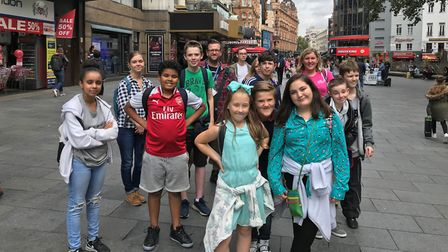 Young carers on a trip to London through Suffolk Family Carers Picture: SUFFOLK FAMILY CARERS