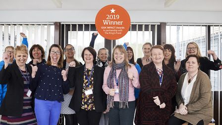 Suffolk Family Carers has scooped a national GSK Impact Award. Left to right: Sally Reed, Sue Green,