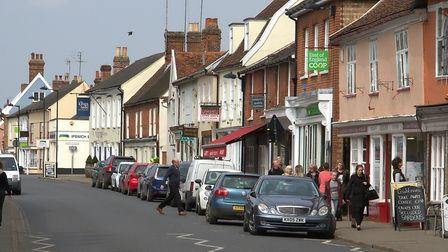 Hadleigh High Street. According to a new study, Babergh is the second happiest place to live in the