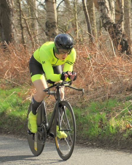 Adrian Pettitt � fastest from the Stowmarket club at the Plomesgate 10. Picture: ROGER RUSH