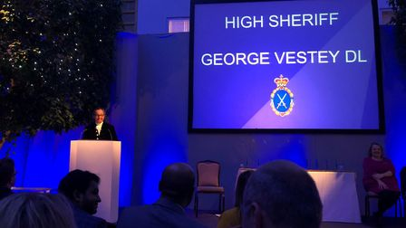 High Sheriff George Vestey presented the awards at a glittering ceremony at Wherstead Park Picture: