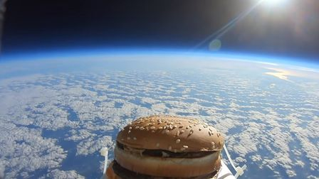 The Big Mac while it enjoyed a visit to space. Picture: YOUTUBE/KILLEM
