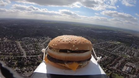 Did you hear about the burger that went to space? Picture: YOUTUBE/KILLEM