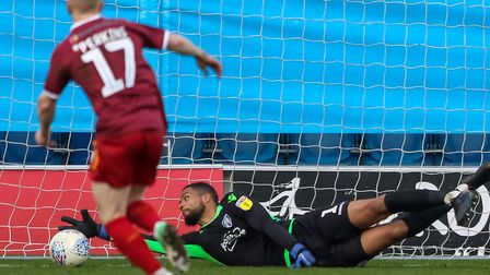 U's keeper Dillion Barnes makes a save, although David Perkins was on hand to score from the rebound
