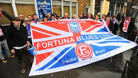 Hundreds of Fortuna Dusseldorf fans have made regular trips over to Portman Road in recent years and