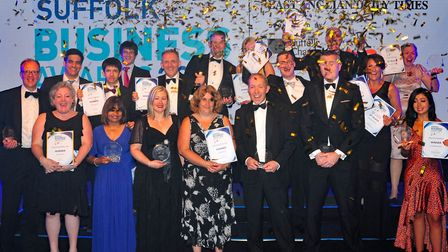 Winners at the Suffolk Business Awards 2018, held at The Hanger, Kesgrave Hall