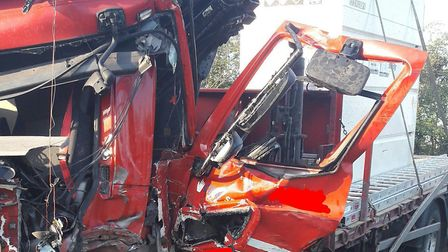 A horsebox and a lorry have collided on the A14 near Rougham Picture: NSRAPT