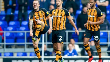 I used this foot: Kamil Grosicki signals to Hull City manager Nigel Adkins (not pictured) after givi