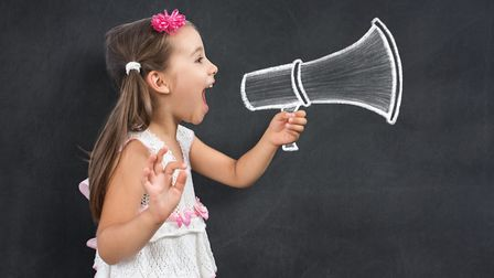 A child practises public speaking Picture: Getty Images/iStockphoto