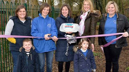 A new fence has been installed around the wooded copse area at Horringer Pre-School Picture: HORRING