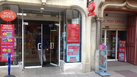 WH Smith in Ipswich with the post office inside it Picture: JUDY RIMMER