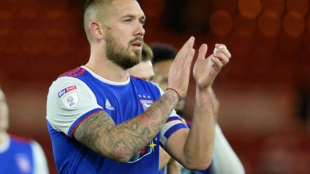 Ipswich Town skipper Luke Chambers recently signed a new two-year deal. Photo: Pagepix