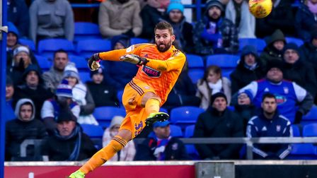 Ipswich Town keeper Bartosz Bialkowski has been dropped three times this seaosn. Photo: Steve Waller