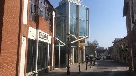 The Cornhill Walk Shopping Centre in Bury St Edmunds is vacant Picture: CHRIS SHIMWELL