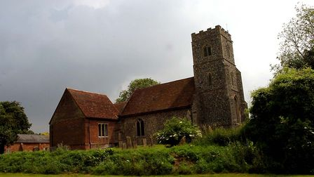 St Mary's church, Denham where a young girl was held before her witchcraft trial. Picture: EADT Libr