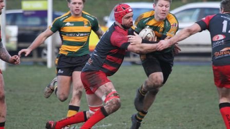 Mark Kohler scored for Bury in their 24-22 defeat at Clifton last weekend. Picture: SHAWN PEARCE PHO