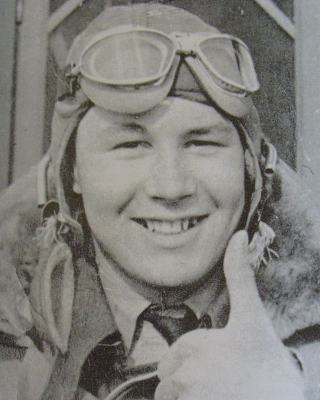 Thumbs up: Cyril celebrates flying solo for the first time in February 1942