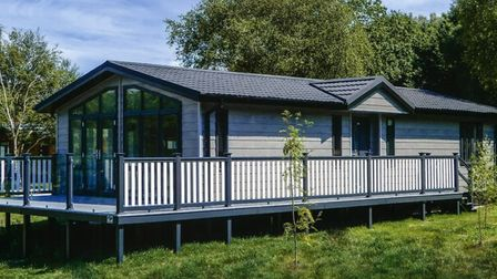 An example of what a holiday lodge at the All Saints complex in Fornham could look like Picture: CON