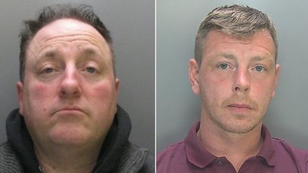Stuart Driver (left) and Matthew Turner have been jailed for a series of burglaries across Suffolk,