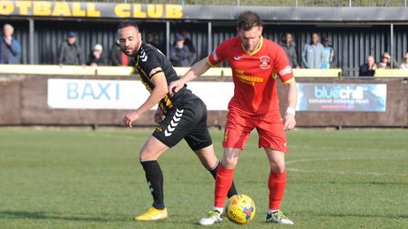 Russell Short on the ball at Rushall Photo: BEN POOLEY