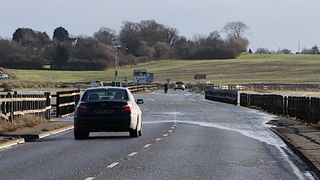 Police were at the scene of a crash on The Strood between Colchester and Mersea Island earlier today