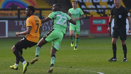 Kane Vincent-Young unleashes his late shot at Cambridge to give the U's a dramatic 1-0 win, in the s