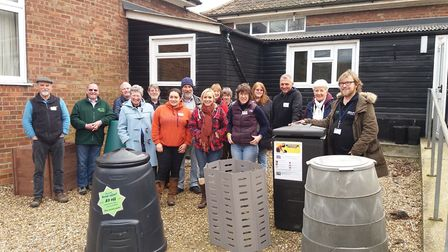 Trainees on a Master Composter course