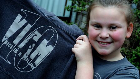 Chloe Rayson, from Bury St Edmunds, who sang solo on stage at Wembley Arena in front of an audience