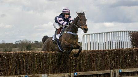Back Bar and Henrietta Cranfield were winners of the Novice Riders race at High Easter. Picture: GRA