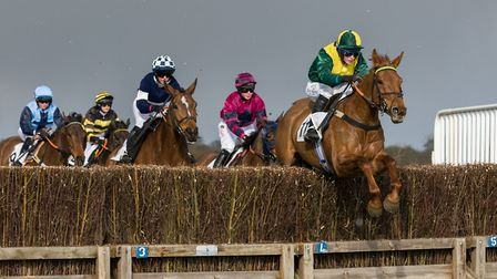 Teeton Power and Tabitha Worsley on their way to victory in the Ladies Open race at High Easter. Pic